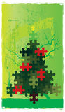 Puzzle dell'albero di Natale Immagine Stock Libera da Diritti