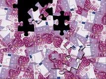 puzzle dell'euro 500 Immagine Stock