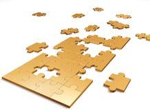 Puzzle dell'oro Immagine Stock Libera da Diritti