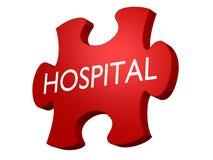 Puzzle dell'ospedale Immagine Stock