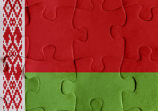 Puzzle della bandiera della Bielorussia Immagini Stock Libere da Diritti