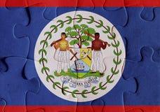 Puzzle della bandiera di Belize Immagini Stock Libere da Diritti