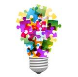 Puzzle della lampadina illustrazione vettoriale