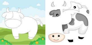 Puzzle della mucca Immagine Stock