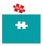 Puzzle della soluzione Immagini Stock