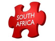 Puzzle della Sudafrica Fotografia Stock