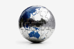Puzzle della terra Fotografia Stock