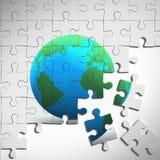 puzzle della terra 3d Immagini Stock
