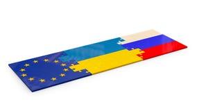 Puzzle delle bandiere impilate Fotografia Stock Libera da Diritti