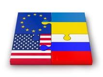 Puzzle delle bandiere impilate Immagine Stock Libera da Diritti