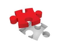 Puzzle denteux Photographie stock libre de droits