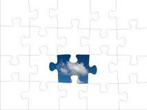Puzzle denteux Image stock