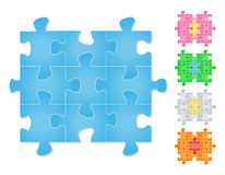 Puzzle denteux Photo libre de droits