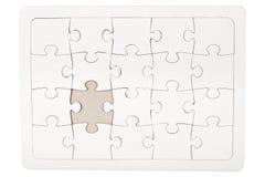Puzzle denteux avec la partie manquante Image stock