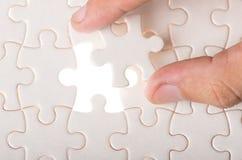 Puzzle denteux avec la partie manquante Photographie stock libre de droits