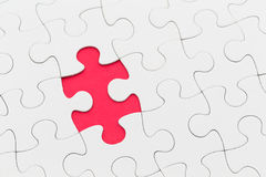 Puzzle denteux avec la partie manquante Image libre de droits