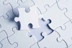 Puzzle denteux avec les disparus Photo stock