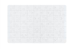 Puzzle denteux blanc Images libres de droits