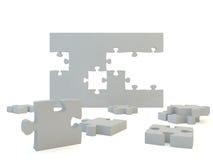 Puzzle denteux blanc Image libre de droits