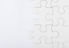 Puzzle denteux blanc photographie stock