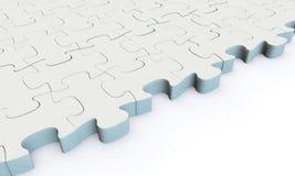 Puzzle denteux blanc Photos libres de droits
