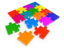 Puzzle denteux coloré Images stock