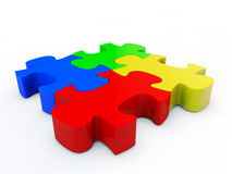 Puzzle denteux de Colorfull Photo stock
