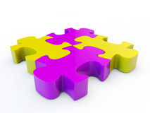 Puzzle denteux de Colorfull Photographie stock
