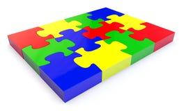 Puzzle denteux de Colorfull illustration stock