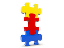 Puzzle denteux de Colorfull Image stock