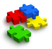 Puzzle denteux de couleur Photo stock