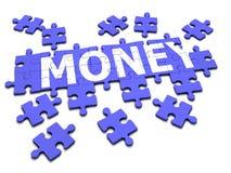 puzzle denteux de l'argent 3d Images libres de droits