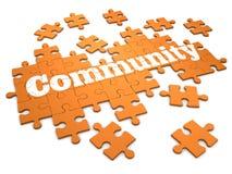 puzzle denteux de la Communauté 3d Photos libres de droits