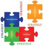 Puzzle denteux de stratégie illustration de vecteur