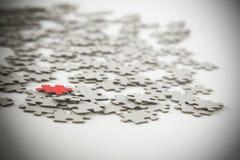 Puzzle denteux, réussite dans le concept d'affaires Image libre de droits