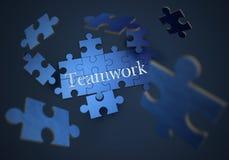 Puzzle der Teamwork stock abbildung