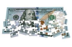 puzzle des 100 dollars Photographie stock libre de droits