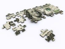 Puzzle des Dollars lizenzfreie abbildung