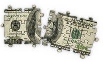 Puzzle des Dollars Lizenzfreie Stockbilder