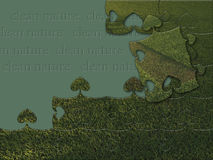 Puzzle des grünen Grases Lizenzfreie Stockfotos