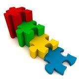 Puzzle des Jobstepps Lizenzfreie Stockfotos