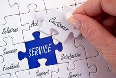 Puzzle des Servicekonzepts Stockfoto