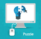 Puzzle design Royalty Free Stock Photography