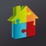 Puzzle design Stock Photography