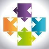 Puzzle design Stock Image