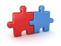 Puzzle deux Photos libres de droits