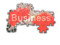 Puzzle di affari Fotografie Stock