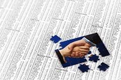 Puzzle di affari Fotografia Stock Libera da Diritti