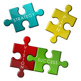 Puzzle di affari di strategia Immagine Stock