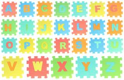 Puzzle di alfabeto Immagine Stock